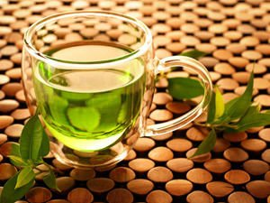 Gren Tea in glass
