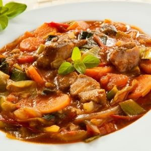 Pork with Leeks Oven Stew