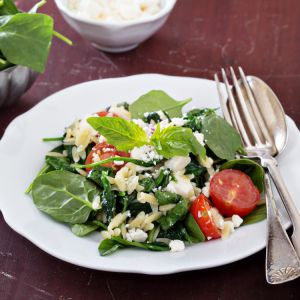 Salad with Orzo and Spinach