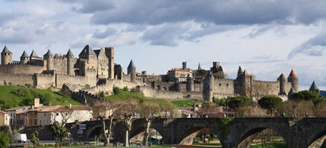 Carcassonne castle panorama view