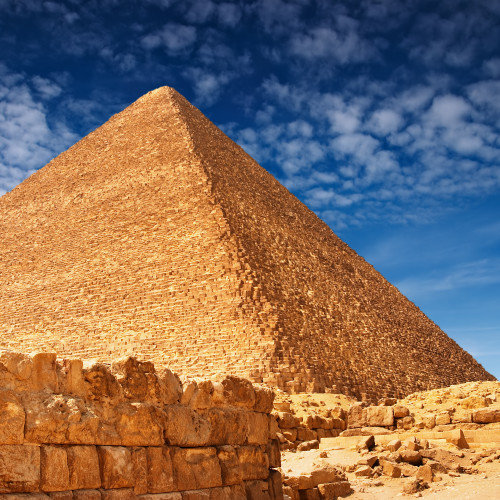 Archeologists estimated the birthday of the Great Pyramid