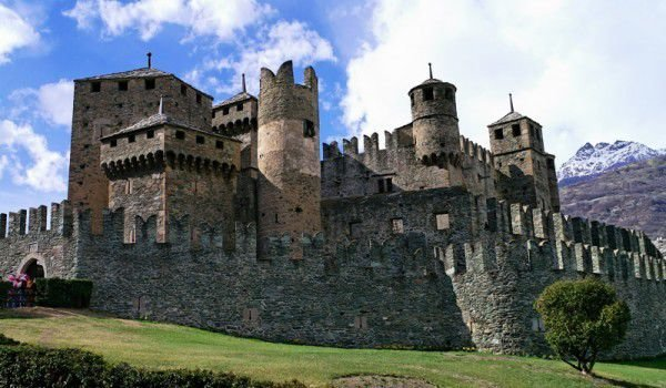 Fenis Castle in Aosta Valley