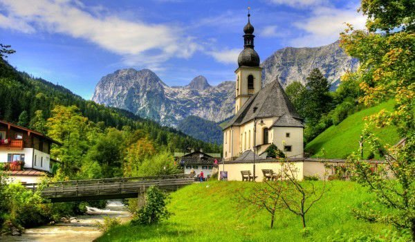 Berchtesgaden national park in Germany