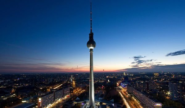 Alexanderplatz and the Tower in Berlin