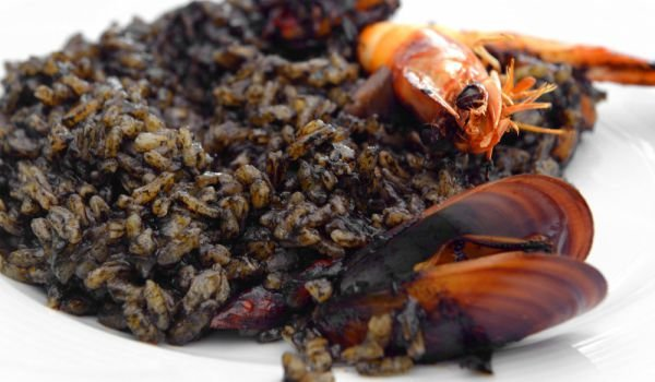 Black Rice Paella