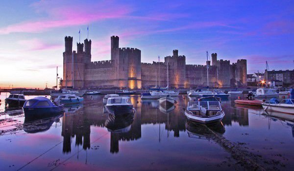 Caernarfon Castle on the river