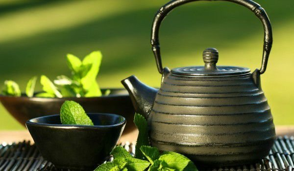 Green Tea in Pot