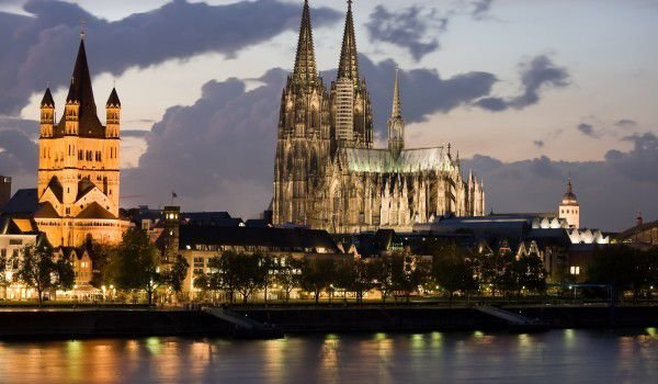 Cologne Cathedral and City at night