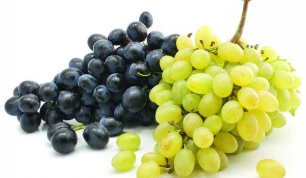 White and black grapes