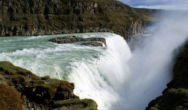 Gullfoss Waterfall - The golden waterfall
