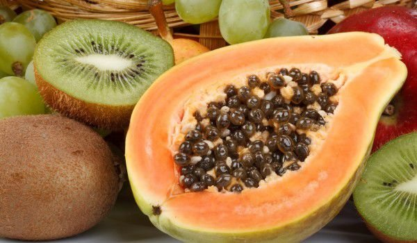 Papaya and fruits