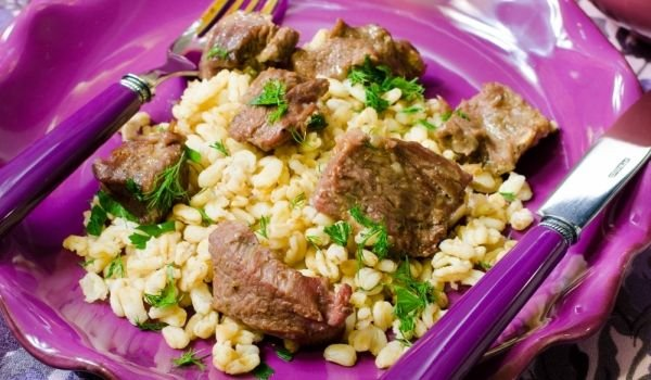 Khorasan wheat and meat