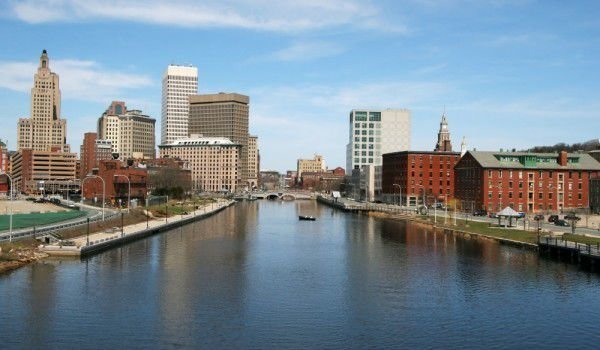 Providence city and river