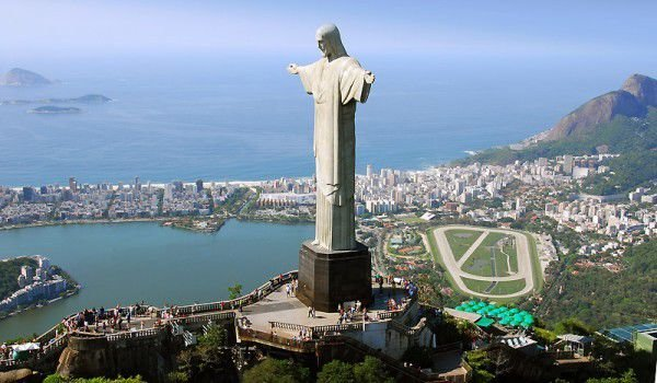 Jesus Christ on the top of Corcovado in Rio de Janeiro