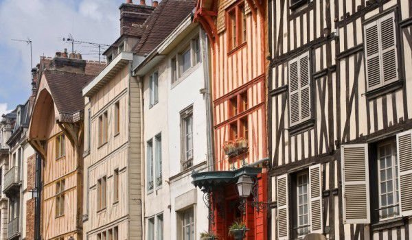Old houses in Troyes, France